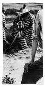 Georgia Prison Guard, 1941 Beach Towel