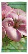 Geranium Blossoms Photoart Beach Towel