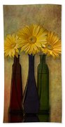 Gerbera Trio Beach Towel