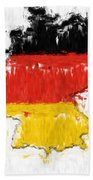 Germany Painted Flag Map Beach Towel