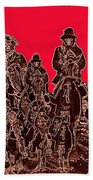 Geronimo And Family Surrendering Collage Number 1 C.s. Fly 1887-2012 Beach Towel