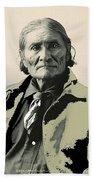 Geronimo As Photographed By A. Rinehart Omaha Nebrasks  1898-2013.  Beach Towel