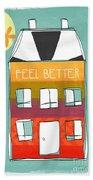 Get Well Card Beach Towel by Linda Woods