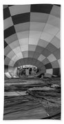 Getting Inflated-bw Beach Towel