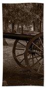 Gettysburg Cannon B W Beach Towel