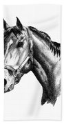 Ghazibella Thoroughbred Racehorse Filly Beach Towel