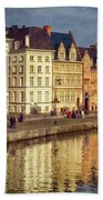 Ghent Waterfront Beach Towel