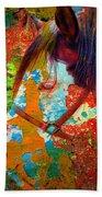 Ghost Horse Beach Towel by Skip Hunt