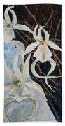 Ghost Orchid Blooming Beach Towel