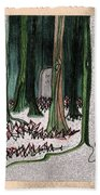 Ghost Stories Forest Graveyard By Jrr Beach Towel