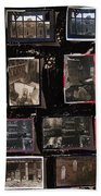 Ghost Towns Collage 1967-2012 Beach Towel