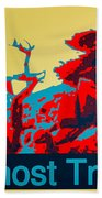 Ghost Tree Poster Beach Towel