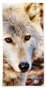 Ghost Wolf Beach Towel