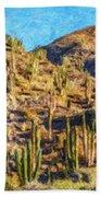 Giant Cordon Cactus Beach Towel
