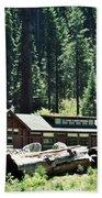 Giant Forest Museum Portrait Beach Towel