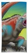 Giant Marine Iguana Beach Sheet