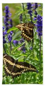 Giant Swallowtail Butterfly Couple Beach Towel
