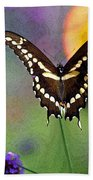 Giant Swallowtail Butterfly Photo-painting Beach Towel