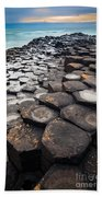 Giant's Causeway Hexagons Beach Towel