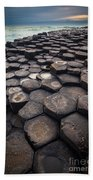 Giant's Causeway Pillars Beach Towel