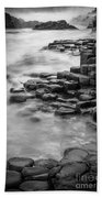 Giant's Causeway Waves  Beach Towel