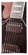 Gibson Sg Standard Red Grunge Beach Towel