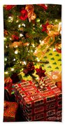 Gifts Under Christmas Tree Beach Towel by Elena Elisseeva