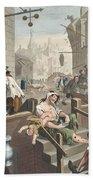 Gin Lane, Illustration From Hogarth Beach Towel