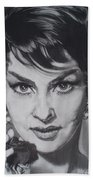 Gina Lollobrigida Beach Towel