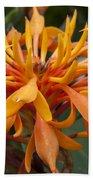 Ginger Flower Beach Towel