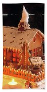 Gingerbread House, Traditional Beach Towel