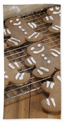 Gingerbread Man Cookies Beach Towel