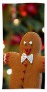 Gingerbread Men In A Line Beach Towel