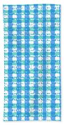 Gingham Glyphs Beach Towel