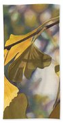Ginkgo Gold Beach Towel