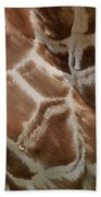 Giraffe Patterns Beach Towel