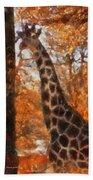 Giraffe Photo Art 03 Beach Towel