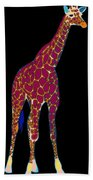 Giraffe Pop Art Beach Towel