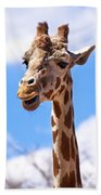 Giraffe Speak Beach Towel