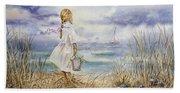 Girl At The Ocean Beach Sheet