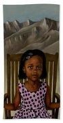 Girl From The Mountain Kingdom Beach Towel