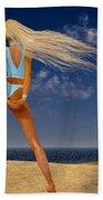 Girl On The Beach... Beach Towel