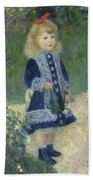 Girl With A Watering Can Beach Towel