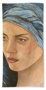 Girl With Turban Beach Towel