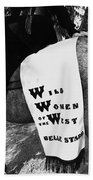 Girl's Demand Excitement Homage Helldorado Days Tombstone Arizona  1931-1980 Beach Towel