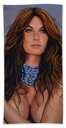 Gisele Bundchen Painting Beach Towel