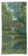 Giverny Reflections Beach Towel
