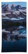 Glacial Rainier Morning Reflection Beach Towel