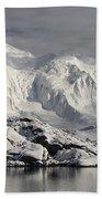 Glaciated Peaks Anvers Isl Antarctica Beach Towel
