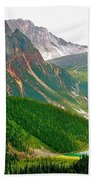 Glacier Area By Mount Edith Cavelle In Jasper Np-alberta Beach Towel